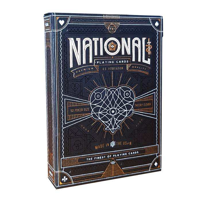 "Theory11 ""NATIONAL"" – jeu de 55 cartes toilées plastifiées – format poker – 2 index standards"