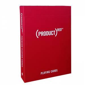 """Theory11 """"(PRODUCT)RED"""" – jeu de 55 cartes toilées plastifiées – format poker – 2 index standards"""