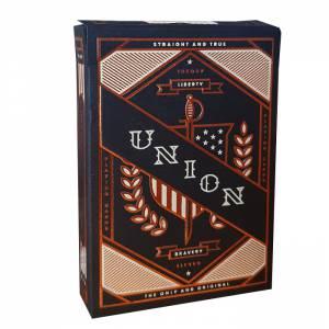 """Theory11 """"UNION"""" – jeu de 55 cartes toilées plastifiées – format poker – 2 index standards"""