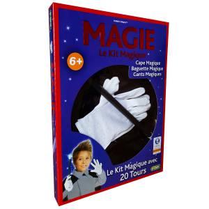 Cape de Magicien + gants + baguette + 20 tours