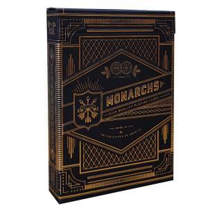 """Theory11 """"MONARCHS"""" - jeu de 55 cartes toilées plastifiées – format poker – 2 index standards"""