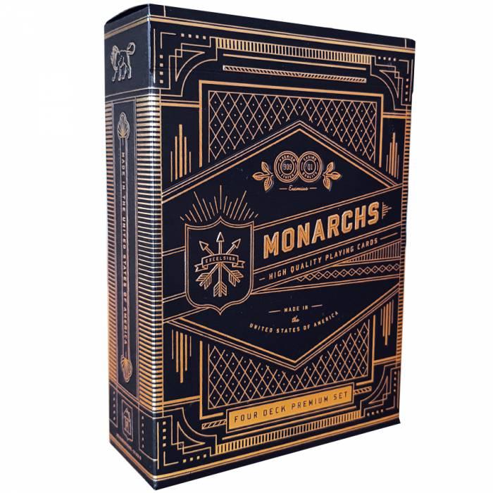 """Theory11 """"MONARCHS - FOUR DECK PREMIUM SET"""" - 4 jeux de 55 cartes toilées plastifiées – format poker"""