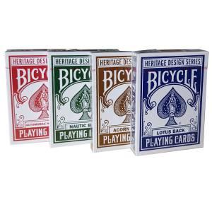 """Theory11 """"BICYCLE HERITAGE SERIES"""" - 4 jeux de 55 cartes toilées plastifiées – format poker"""