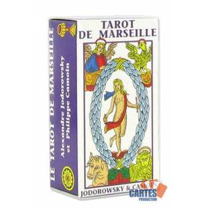 Mini Tarot de Marseille par Jodorowski et Camoin - jeu de 78 cartes cartonnées plastifiées – 4 index standards