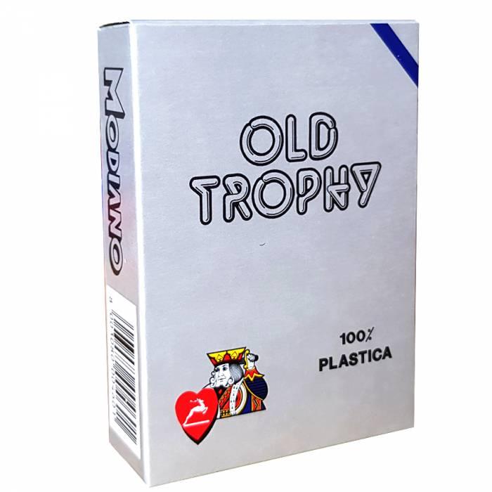 """Modiano """"OLD TROPHY"""" – Jeu de 55 cartes 100% plastique – format poker – 4 index standards"""