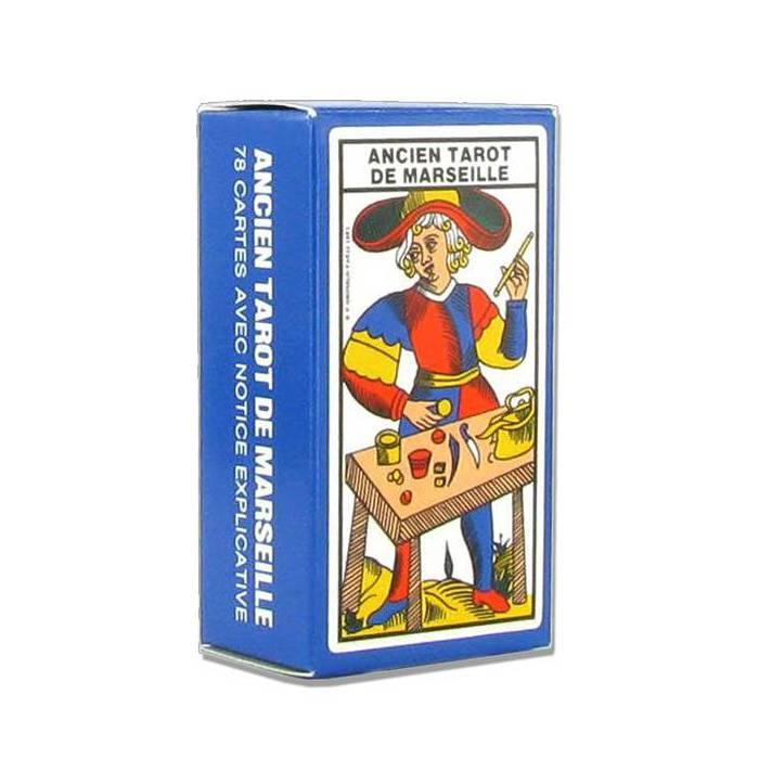 Mini Ancien tarot de Marseille - jeu de 78 cartes cartonnées plastifiées – 4 index standards – format de voyage