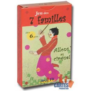 Jeu des 7 familles: Allons au cirque – 42 cartes cartonnées plastifiées - 7 familles de 6 cartes