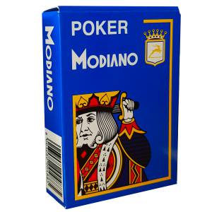 "Modiano ""CRISTALLO"" - Jeu de 54 cartes 100% plastique – format poker - 4 index jumbo"