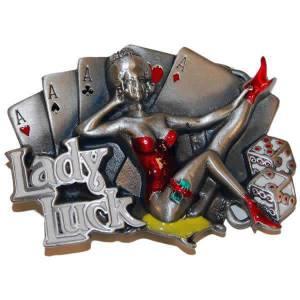 Boucle de ceinturon LADY LUCK – en métal – adaptable à la plupart des ceinturons