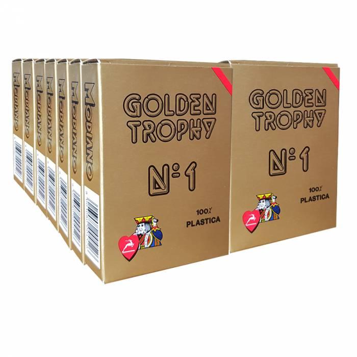 "Cartouche Modiano ""GOLDEN TROPHY"" Rouge – 12 Jeux + 2 OFFERTS"