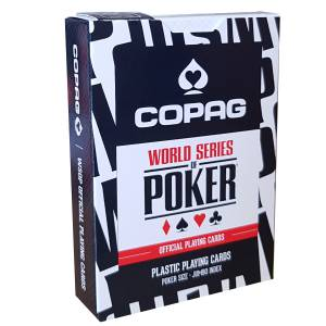"Copag ""WSOP"" – jeu de 55 cartes 100% Plastique – format poker – 2 index jumbo"