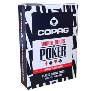 """Copag """"WSOP"""" – jeu de 55 cartes 100% Plastique – format poker – 2 index jumbo"""