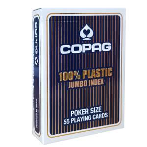 """Copag """"JUMBO"""" – jeu de 55 cartes 100% Plastique – format poker – 2 index jumbo"""