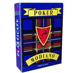 """Modiano """"POKER LUSSO 105"""" – Jeu de 55 cartes cartonnées plastifiées – format poker – 4 index standards"""