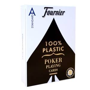 "Fournier ""TITANIUM SERIES"" standard - Jeu de 55 cartes 100% plastique – format poker - 4 index standards"