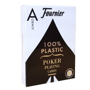 "Fournier ""TITANIUM SERIES"" Jumbo - Jeu de 55 cartes 100% plastique – format poker - 2 index Jumbo"
