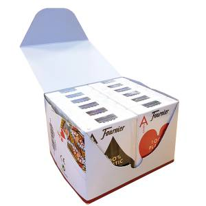 "Cartouche Fournier ""TITANIUM SERIES"" Jumbo - 12 Jeux de 55 cartes 100% plastique – format poker - 2 index Jumbo"