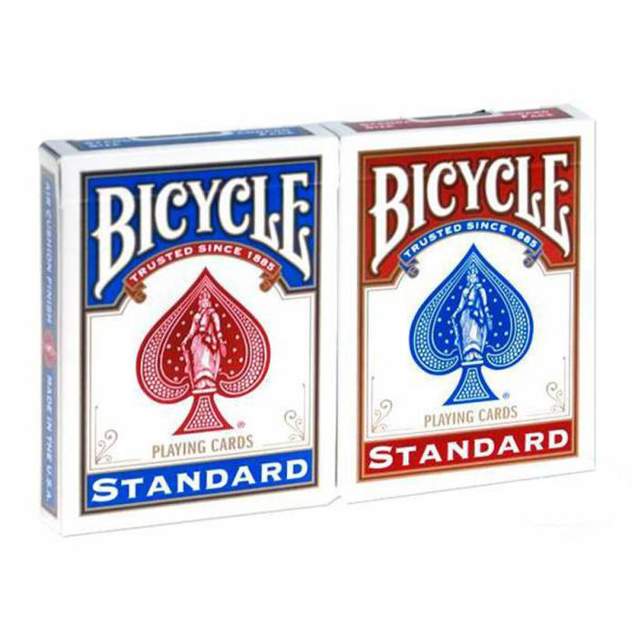 """Duo pack Bicycle """"RIDER BACK"""" Standard – 2 Jeux de 56 cartes toilées plastifiées – format poker – 2 index standards"""