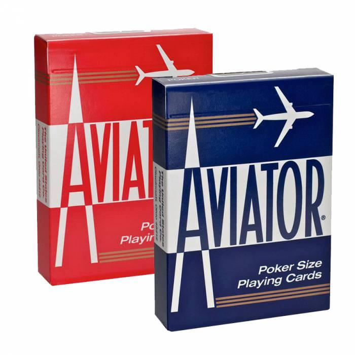 """Duo Pack AVIATOR """"POKER 914"""" - 2 Jeux de 55 cartes plastifiées ..."""