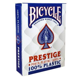 "Bicycle ""PRESTIGE"" - jeu de 55 cartes 100% Plastique – format poker – 2 index jumbo"