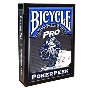 "Bicycle ""PRO POKER PEEK"" - Jeu de 56 cartes toilées plastifiées – format poker – 4 index standards, 2 index jumbo"
