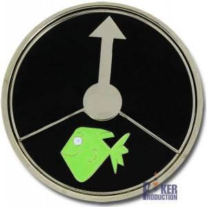 Card-Guard POKER ZOO - en laiton –  tourne sur son axe central – 50mm de diamètre