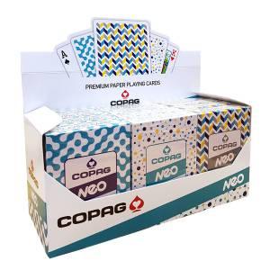 """Cartouche COPAG Néo Lifestyle """"2019"""" - 12 jeux de 56 cartes toilées plastifiées – format poker – 2 index standards"""
