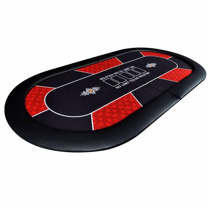 """Dessus de table de poker """"NO LIMIT"""" - pliable - pour 10 joueurs"""