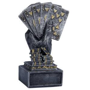 """Trophée de Poker """"ROYAL FLUSH"""" en résine"""