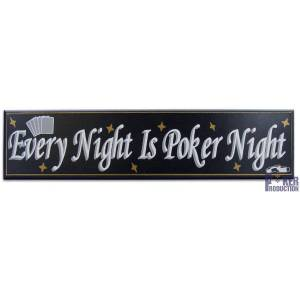 Every Night Is Poker Night - Panneau 38x90 cm