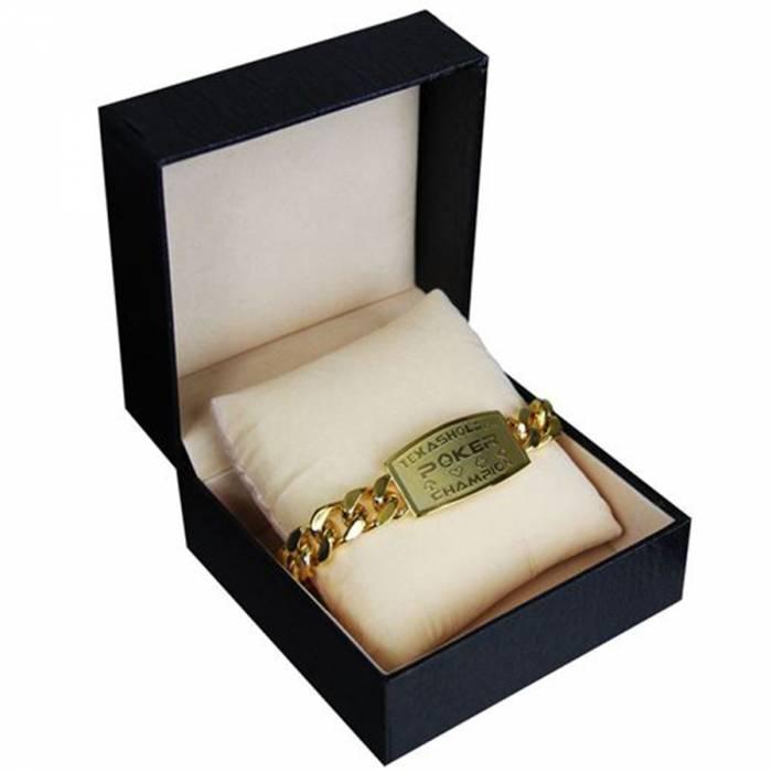 """Bracelet """"TEXAS HOLDEM CHAMPION"""" – livré dans un écrin en simili cuir"""