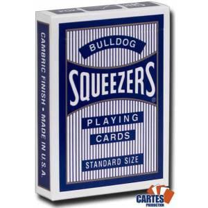 Bulldog Squeezers - Jeu de 54 cartes plastifiées – format poker – index standards