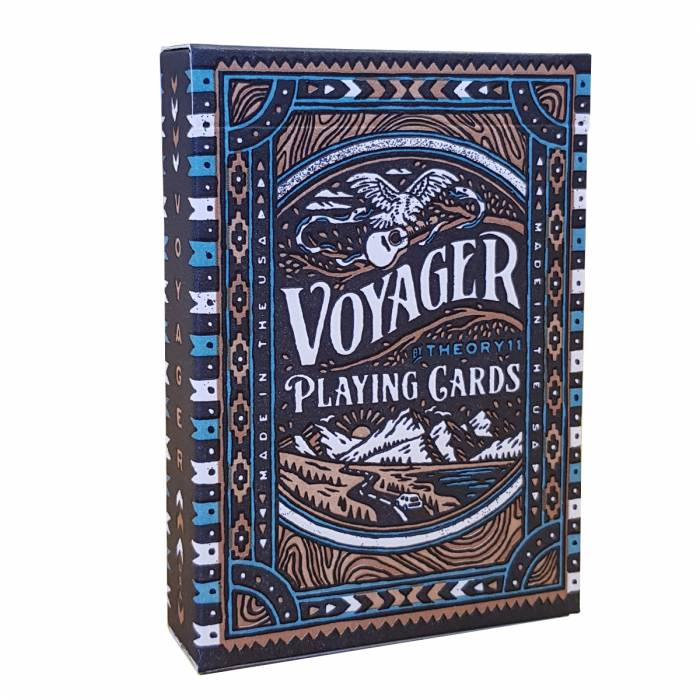 "Theory11 ""VOYAGER"" – jeu de 55 cartes toilées plastifiées – format poker – 2 index standards"
