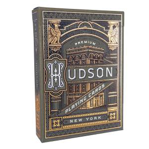 "Theory11 ""BLACK HUDSON"" – jeu de 55 cartes toilées plastifiées – format poker – 2 index standards"