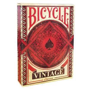 """Bicycle """"VINTAGE""""- jeu de 56 cartes cartonnées plastifiées – format poker – 2 index standards"""