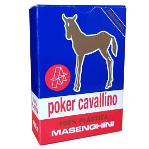 """Masenghini """"CAVALLINO"""" - Jeu de 55 cartes 100% plastique - Format Poker XL - 4 index standards"""