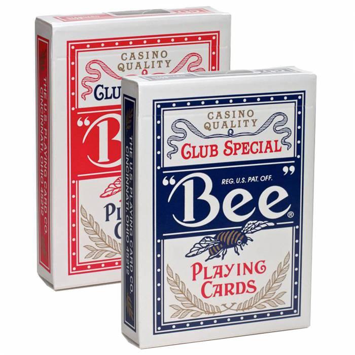 """Duo Pack BEE """"N°92"""" - 2 Jeux de 54 cartes toilées plastifiées – format poker – 2 index standards"""