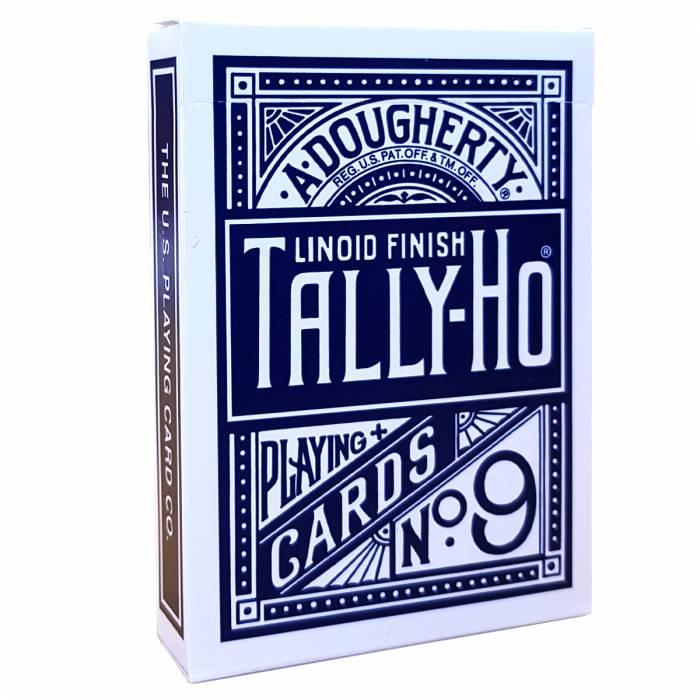 "TALLY HO ""N°9"" - Jeu de 56 cartes toilées plastifiées – format poker – 2 index standards"
