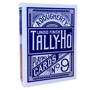 "TALLY HO ""N°9 - FAN BACK"" - Jeu de 56 cartes toilées plastifiées – format poker – 2 index standards"