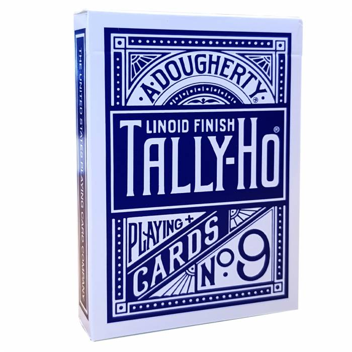 "TALLY HO ""N°9 - FAN BACK"" - Jeu de 56 cartes toilées plastifiées – format poker – 2 index standards"