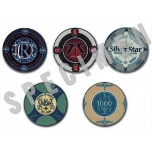 Échantillons de Jetons de poker personnalisés en céramiques – 40mm de diamètre – impression complète