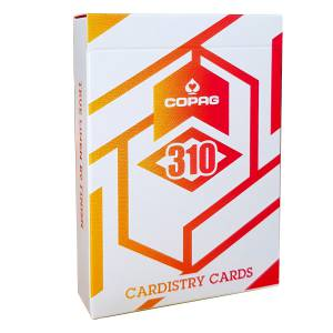 "COPAG 310 ""ALPHA ORANGE""- jeu de 56 cartes toilées plastifiées – format poker – sans index"
