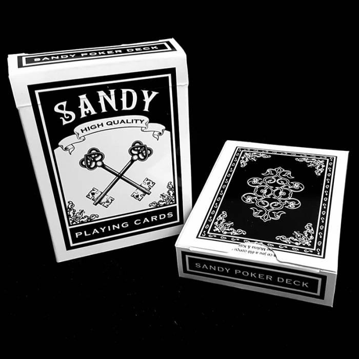 """""""SANDY DECK"""" - jeu de 56 cartes toilées plastifiées – format poker – 2 index standards"""