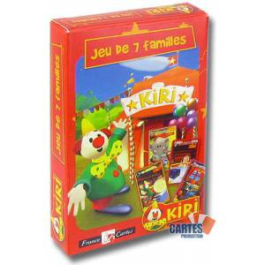 Jeu des 7 familles kiri le clown - Jeu de 42 cartes