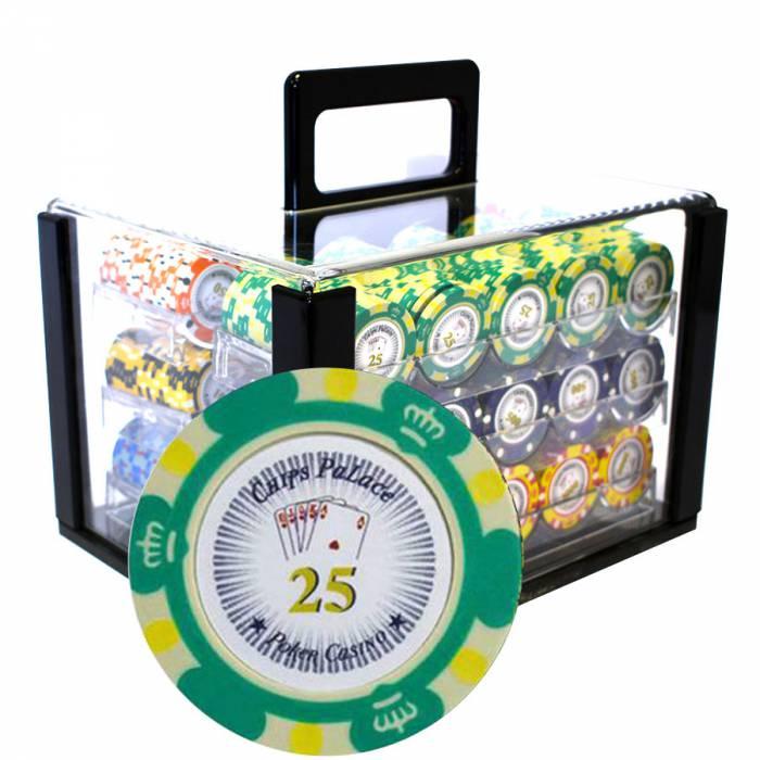 """Bird Cage de 600 jetons de poker """"CROWN"""" - version TOURNOI - en clay composite 14 g"""