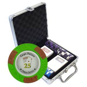 """Mallette de 100 jetons de poker """"LAS VEGAS"""" - version TOURNOI - en clay composite 14 g - avec accessoires"""