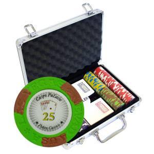 """Mallette de 200 jetons de poker """"LAS VEGAS"""" - version TOURNOI - en clay composite 14 g - avec accessoires"""
