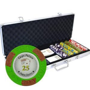 """Mallette de 500 jetons de poker """"LAS VEGAS"""" - version TOURNOI - en clay composite 14 g - avec accessoires"""