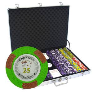 """Mallette de 1000 jetons de poker """"LAS VEGAS"""" - version TOURNOI - en clay composite 14 g - avec accessoires"""