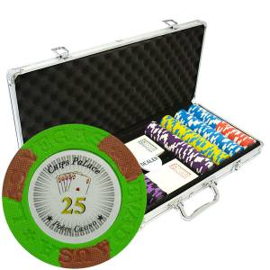 """Mallette de 400 jetons de poker """"LAS VEGAS"""" - version TOURNOI - en clay composite 14 g - avec accessoires"""
